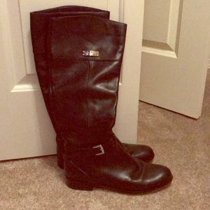 Coach Black Leather Knee High Boots